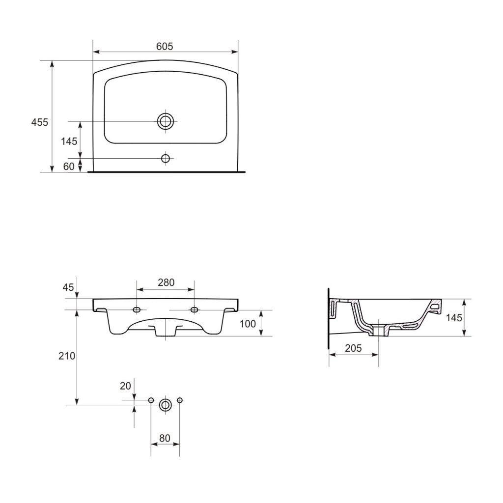 CERSANIT - UMYVADLO EASY 60 1 OTW BOX (K102-014)