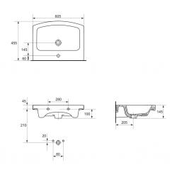 UMYVADLO EASY 60 1 OTW BOX (K102-014) - CERSANIT, fotografie 6/4