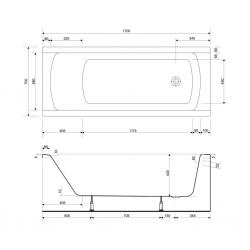 CERSANIT - VANA KORAT 170X70 cm (S301-122), fotografie 10/5