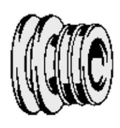 VIEGA/V 308568/Viega zvýhodněná nabídka/Manžeta k připojovacímu mosaz.kusu pisoáru (zadní přívod vody)