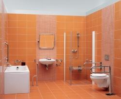 CERSANIT - Rukojeť 50x70 - vertikální/ vodorovná, levá pro WC a sprchové kouty (K97-032), fotografie 2/3