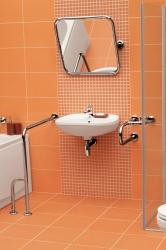 CERSANIT - Nástěnné madlo 75 pro WC, pohyblivé  (K97-035), fotografie 4/3