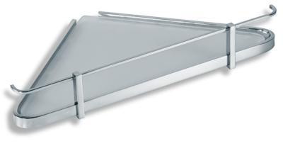 NOVASERVIS - Rohová polička se zábradlím pískované sklo  Metalia 4 chrom (6458,0S)