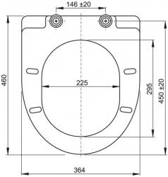 VÝPRODEJ - ALCAPLAST WC sedátko se zpomalením SOFTCLOSE A66 (MK19415VYP), fotografie 2/1