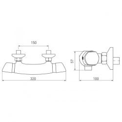 NOVASERVIS - Sprchová termostatická baterie 150 mm Metalia 57 chrom (57961/1,0), fotografie 6/3