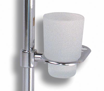 NOVASERVIS - Držák skleničky a kartáčků na tyč  Metalia 1 chrom (6149/1,0)