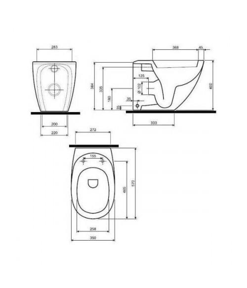 VÝPRODEJ - WC stojící mísa EGO (K13000000VYP), fotografie 2/2