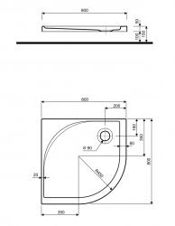 VÝPRODEJ - Akcent - čelní panel k sprchové vaničce 80cm (PBN0480000VYP), fotografie 2/1