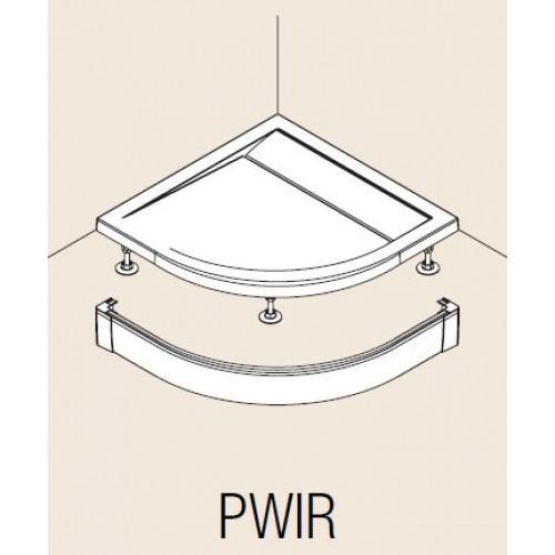 Hliníkový přední panel pro čtvrtkruhovou vaničku, Aluchrom ( PWIR5510050VYP )