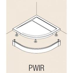Hliníkový přední panel pro čtvrtkruhovou vaničku, Aluchrom (PWIR5510050VYP) - VÝPRODEJ