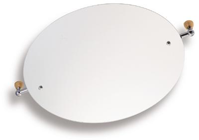 NOVASERVIS - Zrcadlo s výklopným držákem ovál 60x50 cm  Metalia 3 satino (6317,9)