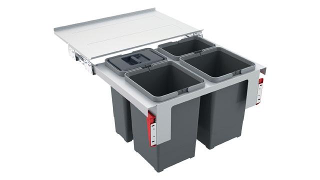 Odpadkový koš FRANKE Sorter Garbo 60-4 2x 8 l, 2x 12 l