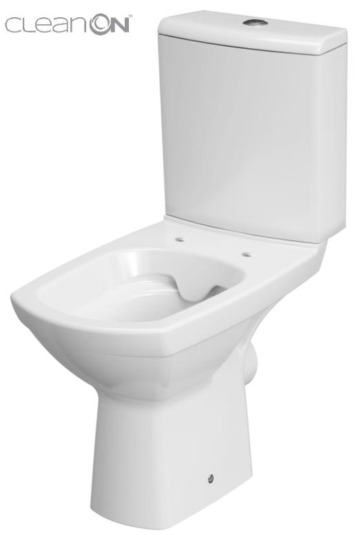 CERSANIT - WC KOMBI CARINA NEW 480 CLEANON   010 3/6 BEZ SEDÁTKA (K31-045)