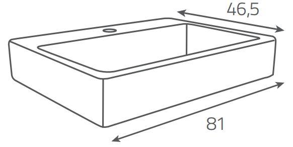 OPOCZNO - NÁBYTKOVÉ UMYVADLO METROPOLITAN SYMETRICAL 80 (OK581-004-BOX)