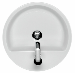 CERSANIT - Umyvadlo CASPIA RING 44 na desku s přepadem (K11-0094), fotografie 18/10