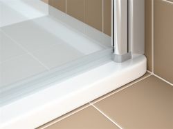 Kermi Kyvné dveře Cada XS 1WR 08020 760-810/2000 bílá ESG čiré Clean 1-křídlé kyvné dveře s panty vpravo  (CC1WR080202PK), fotografie 10/9