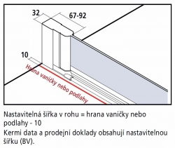 KERMI - Cada XS  Jednokřídlé kyvné dveře, panty vlevo šířka 700 mm výška 2000 mm (CC1WL070202PK), fotografie 12/9