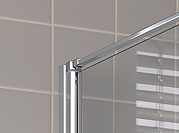 Kermi Boční stěna Cada XS TWD 03520 310-360/2000 bílá ESG čiré Clean boční stěna  (CCTWD035202PK), fotografie 6/5