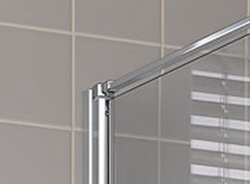 Kermi Boční stěna Cada XS TWD 03020 260-310/2000 stříbrná vys.lesk ESG čiré Clean boční stěna  (CCTWD03020VPK), fotografie 4/5
