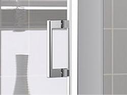 Kermi Boční stěna Cada XS TWD 05520 510-560/2000 stříbrná vys.lesk ESG čiré Clean boční stěna  (CCTWD05520VPK), fotografie 10/5