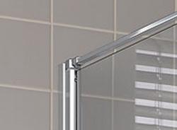 Kermi Boční stěna Cada XS TWD 09520 910-960/2000 stříbrná vys.lesk ESG čiré Clean boční stěna  (CCTWD09520VPK), fotografie 4/5