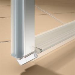 Kermi Kyvné dveře Cada XS 1WR 08020 760-810/2000 stříbrná vys.lesk ESG čiré Clean 1-křídlé kyvné dveře s panty vpravo  (CC1WR08020VPK), fotografie 2/9