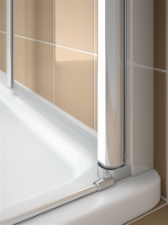 Kermi Kyvné dveře Cada XS 1WR 09520 910-960/2000 stříbrná vys.lesk ESG čiré Clean 1-křídlé kyvné dveře s panty vpravo  (CC1WR09520VPK), fotografie 6/9