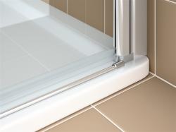 Kermi Kyvné dveře Cada XS 1WR 09520 910-960/2000 stříbrná vys.lesk ESG čiré Clean 1-křídlé kyvné dveře s panty vpravo  (CC1WR09520VPK), fotografie 8/9