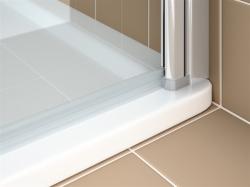 Kermi Kyvné dveře Cada XS 1WR 09520 910-960/2000 stříbrná vys.lesk ESG čiré Clean 1-křídlé kyvné dveře s panty vpravo  (CC1WR09520VPK), fotografie 10/9