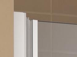 Kermi Kyvné dveře Cada XS 1WR 10020 960-1010/2000 stříbrná vys.lesk ESG čiré Clean 1-křídlé kyvné dveře s panty vpravo  (CC1WR10020VPK), fotografie 16/9