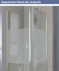 Kermi Kyvné dveře Cada XS 1WR 08520 810-860/2000 stříbrná vys.lesk Serig.CC Clean 1-křídlé kyvné dveře s panty vpravo  (CC1WR08520VVK), fotografie 14/10