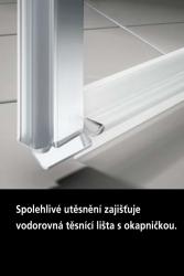 Kermi Kyvné dveře Cada XS 1GR 08020 760-810/2000 bílá ESG čiré Clean 1-křídlé kyvné dveře s pev. polem panty vpravo (CC1GR080202PK), fotografie 8/9