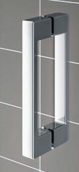 Kermi Kyvné dveře Cada XS 1GR 08020 760-810/2000 bílá ESG čiré Clean 1-křídlé kyvné dveře s pev. polem panty vpravo (CC1GR080202PK), fotografie 18/9
