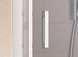 Kermi Kyvné dveře Cada XS 1GR 08020 760-810/2000 bílá ESG čiré Clean 1-křídlé kyvné dveře s pev. polem panty vpravo (CC1GR080202PK), fotografie 2/9