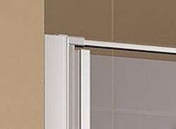 Kermi Kyvné dveře Cada XS 1GR 08020 760-810/2000 bílá ESG čiré Clean 1-křídlé kyvné dveře s pev. polem panty vpravo (CC1GR080202PK), fotografie 4/9