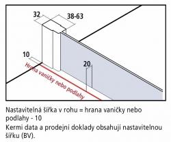 KERMI - Cada XS  Jednokřídlé kyvné dveře s pevným polem vlevo šířka 800 mm výška 2000 mm (CC1GL080202PK), fotografie 16/9
