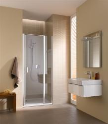 Kermi Kyvné dveře Cada XS 1GR 12020 1160-1210/2000 stříbrná vys.lesk ESG čiré Clean 1-křídlé kyvné dveře s pev. polem panty vpravo (CC1GR12020VPK)