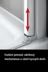 Kermi Kyvné dveře Cada XS 1GR 09020 860-910/2000 stříbrná vys.lesk Serig.CC Clean 1-křídlé kyvné dveře s pev. polem panty vpravo (CC1GR09020VVK), fotografie 6/10