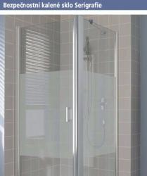 Kermi Kyvné dveře Cada XS 1GR 09020 860-910/2000 stříbrná vys.lesk Serig.CC Clean 1-křídlé kyvné dveře s pev. polem panty vpravo (CC1GR09020VVK), fotografie 18/10
