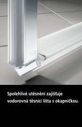 Kermi Kyvné dveře Cada XS PTD 07020 660-710/2000 bílá ESG čiré Clean Kyvné dveře  (CCPTD070202PK), fotografie 10/10