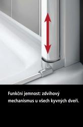 Kermi Kyvné dveře Cada XS PTD 08520 810-860/2000 bílá ESG čiré Clean Kyvné dveře  (CCPTD085202PK), fotografie 8/10