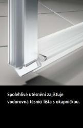 Kermi Kyvné dveře Cada XS PTD 08520 810-860/2000 bílá ESG čiré Clean Kyvné dveře  (CCPTD085202PK), fotografie 10/10