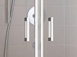 Kermi Kyvné dveře Cada XS PTD 09520 910-960/2000 bílá ESG čiré Clean Kyvné dveře  (CCPTD095202PK), fotografie 2/10