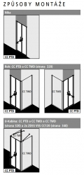 Kermi Kyvné dveře Cada XS PTD 09520 910-960/2000 bílá ESG čiré Clean Kyvné dveře  (CCPTD095202PK), fotografie 12/10