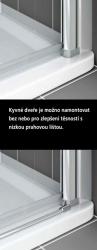Kermi Kyvné dveře Cada XS PTD 07520 710-760/2000 stříbrná vys.lesk ESG čiré Clean Kyvné dveře  (CCPTD07520VPK), fotografie 6/10