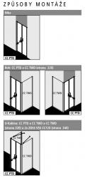 Kermi Kyvné dveře Cada XS PTD 07520 710-760/2000 stříbrná vys.lesk ESG čiré Clean Kyvné dveře  (CCPTD07520VPK), fotografie 12/10