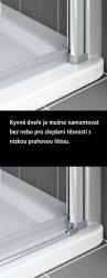 Kermi Kyvné dveře Cada XS PTD 08020 760-810/2000 stříbrná vys.lesk ESG čiré Clean Kyvné dveře  (CCPTD08020VPK), fotografie 6/10