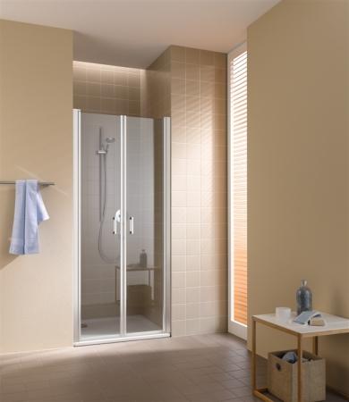 Kermi Kyvné dveře Cada XS PTD 09020 860-910/2000 stříbrná vys.lesk Serig.CC Clean Kyvné dveře  (CCPTD09020VVK)