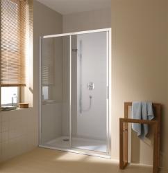 Kermi Posuvné dveře Cada XS G2R 14020 1370-1410/2000 bílá ESG čiré Clean 2-dílné posuvné dveře s pevným polem pevné pole vpravo (CCG2R140202PK)