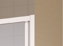 Kermi Posuvné dveře Cada XS G2R 14020 1370-1410/2000 bílá ESG čiré Clean 2-dílné posuvné dveře s pevným polem pevné pole vpravo (CCG2R140202PK), fotografie 4/6
